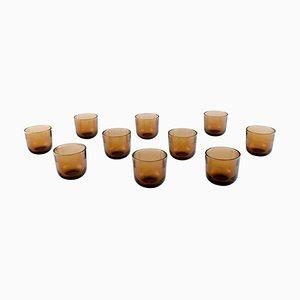 Bicchieri Fasetti Vodka in vetro artificiale di Kaj Franck, anni '60, set di 10
