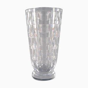 Art Deco Tusen Fönster Vase by Simon Gate for Orrefors, 1950s