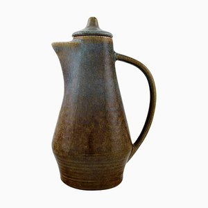 Jug with Lid in Glazed Stoneware by Carl Harry Stålhane for Rörstrand