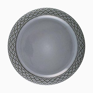 Number 624 Dinner Plates Grey Cordial from Bing & Grondahl, Set of 10