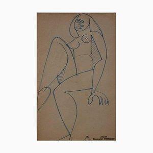 Französische Nackte Frau im Kubistischen Stil von Raymond Trumeau