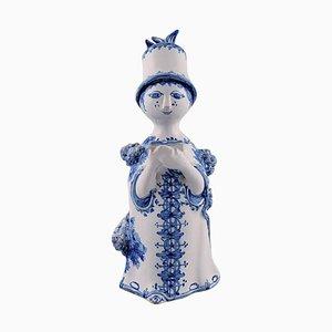 Figurine Aunt the Blue House en Céramique par Bjørn Wiinblad, 2002