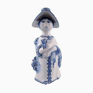 Ceramic Aunt the Blue House Figure by Bjørn Wiinblad, 2002