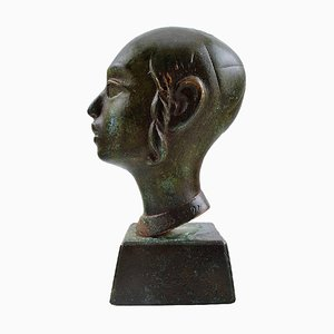 Bronze Jew in Profile on Base, 1900s