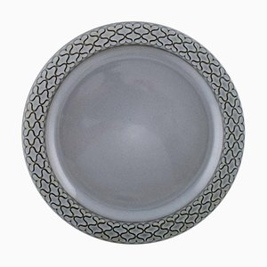 Number 325 Dinner Plates Grey Cordial from Bing & Grondahl, Set of 14