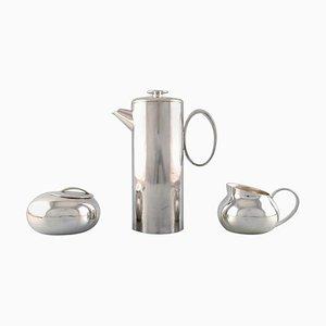 Servicio de café moderno de Lino Sabattini para Christofle, años 60. Juego de 3