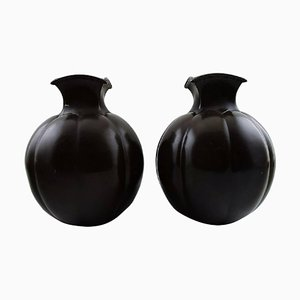 Art Deco Light Bronze Number 1754 Vases by Just Andersen, 1930s, Set of 2