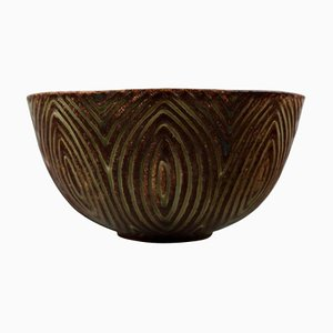 Fluted Style Stoneware Bowl Model No. 20720 by Axel Salto for Royal Copenhagen, 1940s