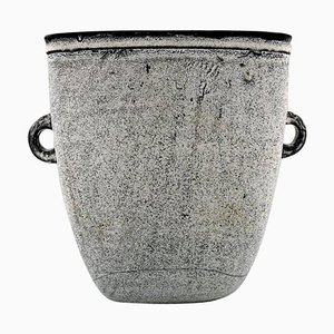 Große Glasierte Steingut Vase von Nils Kähler, Dänemark, 1960er