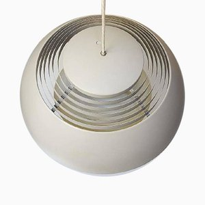 AJ Pendant Lamp in Gray Lacquered Metal by Arne Jacobsen for Louis Poulsen, 1960s