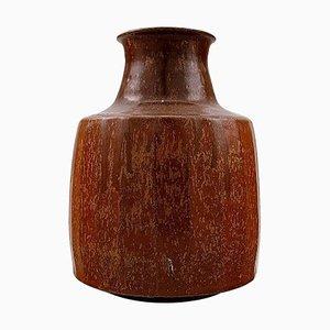 Swedish Ceramic Vase in Rustic Style, 1980s