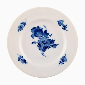 Large Royal Copenhagen Blue Flower Braided Dessert or Salad Plates, 1940s, Set of 6