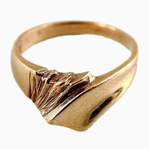 Gold Ring in Modern Scandinavian Design