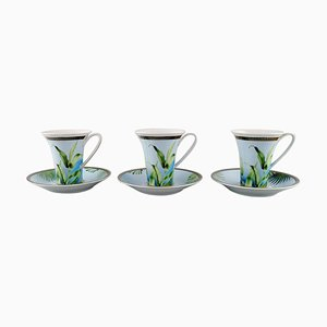 Jungle Coffee Cups with Saucer by Gianni Versace for Rosenthal, Set of 6