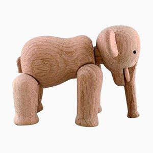 Danish Elephant in Oak by Kay Bojesen