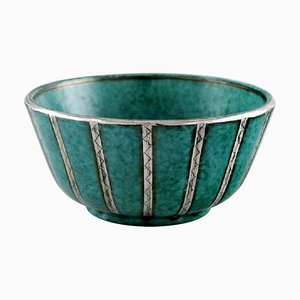 Argenta Bowl in Glazed Ceramic by Wilhelm Kåge for Gustavsberg, 1940s