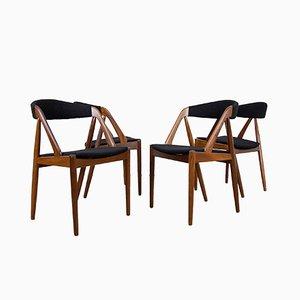 Model 501 Teak Chairs by Kai Kristiansen for Farstrup, Set of 4