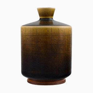 Modernist Glazed Ceramic Vase by Berndt Friberg for Gustavsberg, 1962