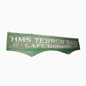 Grand Panneau de Bar Antique