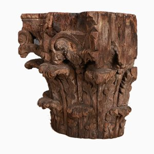 Carved Capitals, 1750s, Set of 2