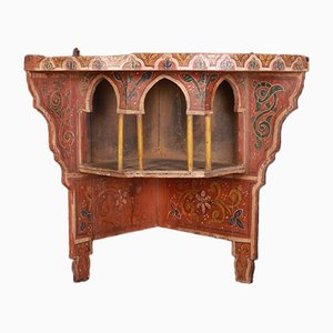 Antique Kashmir Hanging Corner Shelf