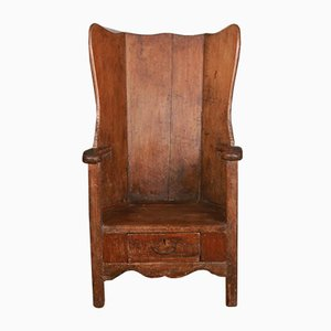 Latten Stuhl aus Pinienholz, 1790er