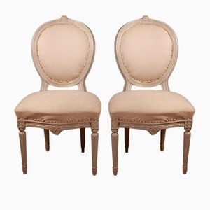 Antique French Salon Chairs, Set of 2