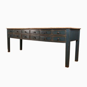 English Painted Dresser Base, 1840s