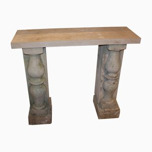 Small Stone Console Tables, Set of 2