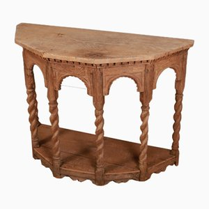 English Bleached Oak Console Table, 1780s