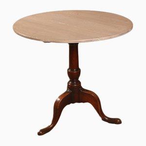 Englischer Eichenholz Dreibein Tisch, 1790er