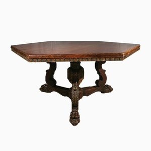 Italian Walnut Centre Table, 1860s