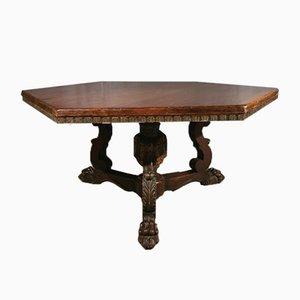 Italienischer Tisch aus Nussholz, 1860er