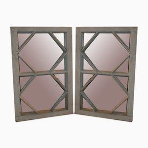 Antike Fensterspiegel, 2er Set