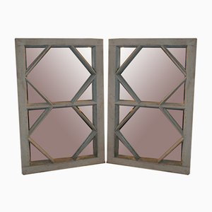 Antique Window Mirrors, Set of 2