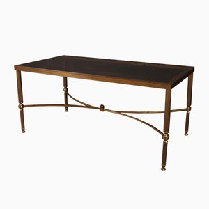 Brass and Glass Low Table, 1920s