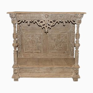 Carved Oak Console Table, 1780s