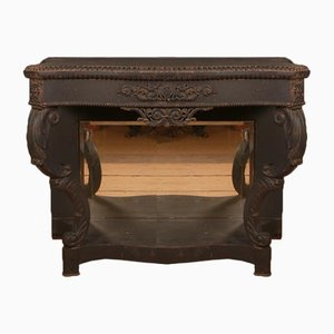 Black Painted Console Table, 1850s