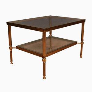 Französischer Messing Tisch, 1950er