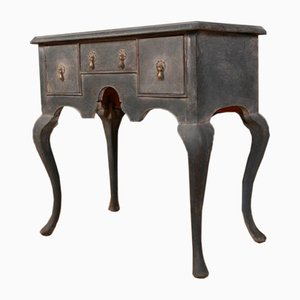 English Painted Lowboy Lamp Table, 1760s