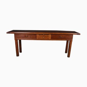 French Walnut Hunt Table, 1780s