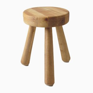 Swedish Birch Stool from Ingvar Hildingsson, 1970s