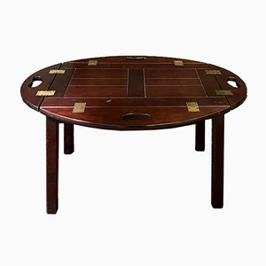 English Mahogany Coffee Table, 1950s
