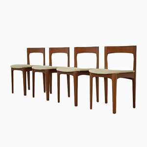 Mid-Century Extendable Teak Dining Table & Chairs Set from Nathan, 1960s, Set of 5