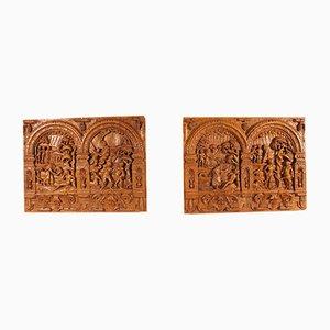 16th Century Renaissance Dutch Oak Altarpiece, Set of 2