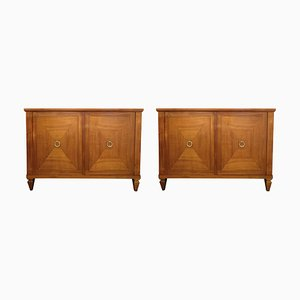 Art Deco Cherry Wood Cabinets, Set of 2