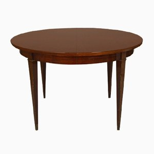 Art Deco Extendable Mahogany Dining Table by Jacques Adnet, 1940s