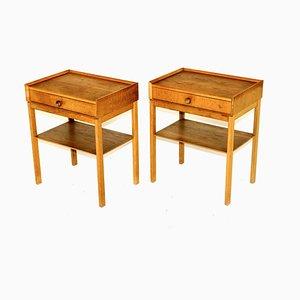 Tables de Chevet en Chêne, Suède, 1960s, Set de 2