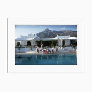 El Venero C Print Framed in White by Slim Aarons