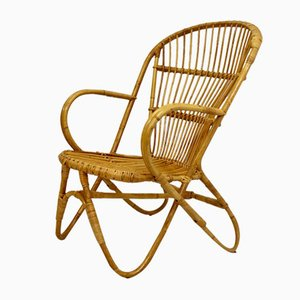 Vintage Rattan Lounge Chair, 1960s